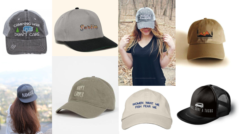 c522ce9b7b5139 Check out the hottest hat design trends this summer; beach vibes, simple  symbols, youth culture (slang & emojis/pop culture references), and hobbies  + ...