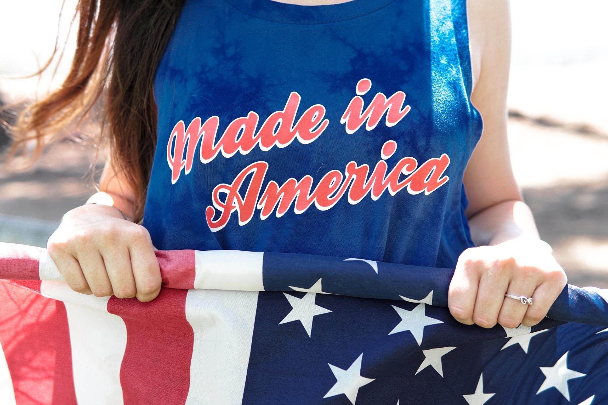 /'MERICA Shirt Tank Top United States Patriotic July 4th Summer Red White /& Blue